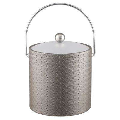 San Remo Silver 3 Qt. Ice Bucket with Bale Handle and Lucite Lid