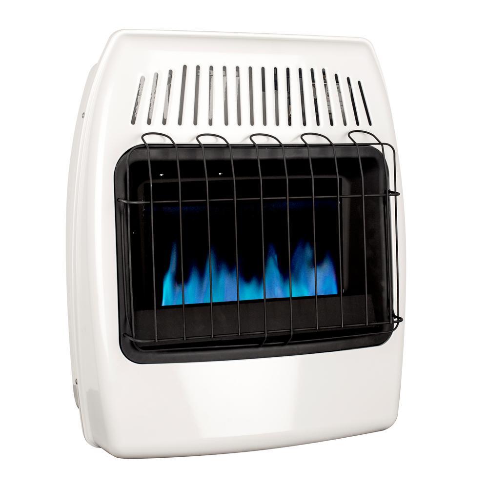 20,000 BTU Vent Free Natural Gas Blue Flame Wall Heater