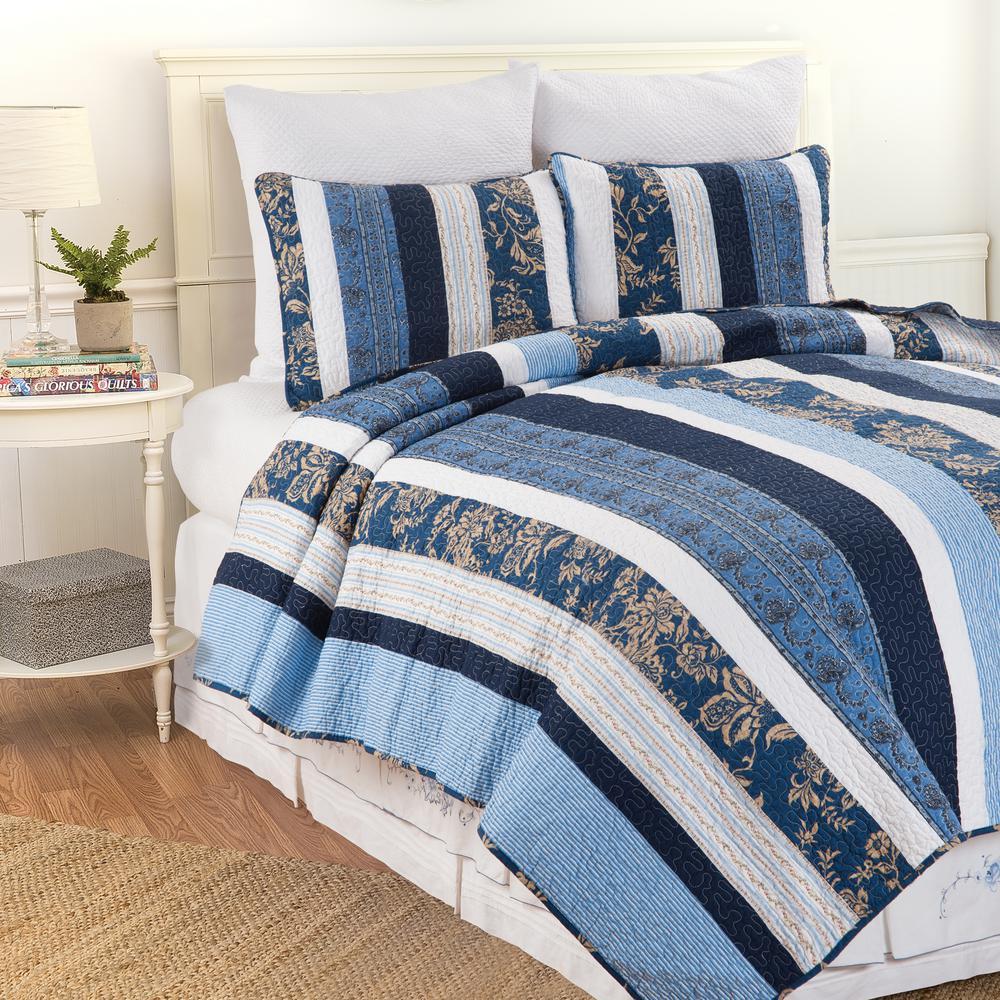 Blue Lakeland F/Q Quilt Set