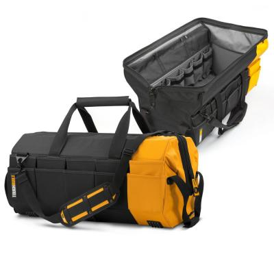 Massive Mouth 26 in. Tool Bag with 62-Pockets in Black