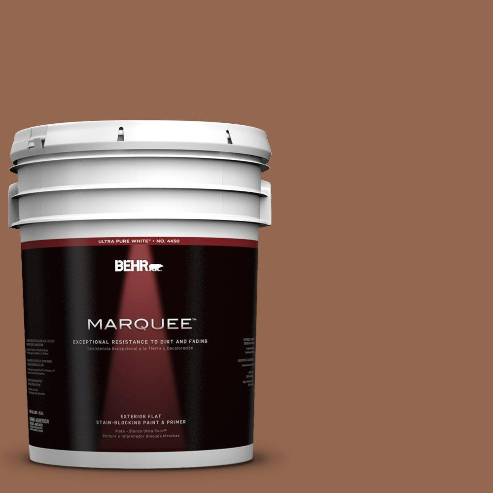 BEHR MARQUEE 5-gal. #240F-6 Sable Brown Flat Exterior Paint
