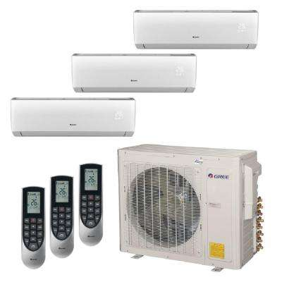 Multi-21 Zone 34000 BTU Ductless Mini Split Air Conditioner with Heat, Inverter and Remote -230-Volt