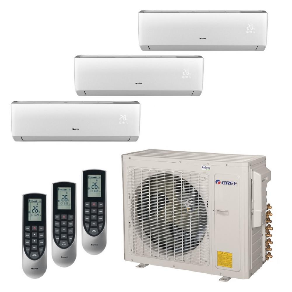 Multi-21 Zone 34000 BTU Ductless Mini Split Air Conditioner with Heat, Inverter and Remote -230-Volt