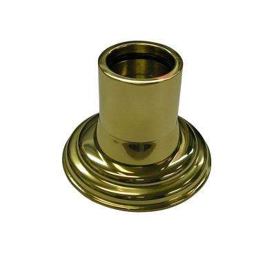 1 in. Decorative Shower Rod Flange in Polished Brass