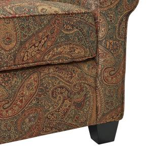 Phenomenal Handy Living Winnetka Arm Chair And Ottoman In Paisley Wtk1 Machost Co Dining Chair Design Ideas Machostcouk