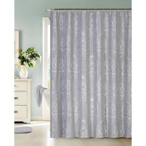 Click here to buy  Bella 72 inch Silver Jacquard Shower Curtain.
