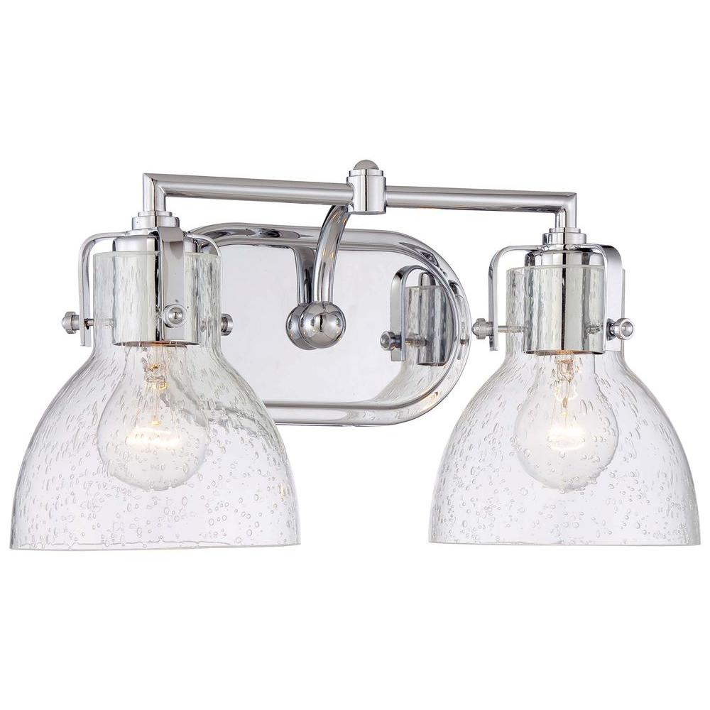 bathroom vanity lights chrome finish. Minka Lavery 2 Light Chrome Traditional Bath Vanity 5722 77  The
