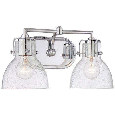 2-Light Chrome Traditional Bath Vanity