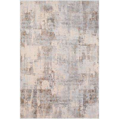 Magda Grey 6 ft. 7 in. x 9 ft. 6 in. Abstract Area Rug