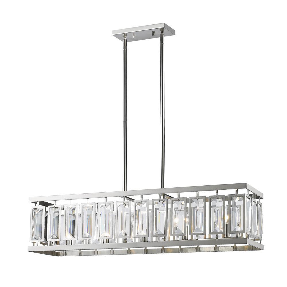 Filament Design Monarch 5-Light Brushed Nickel Billiard