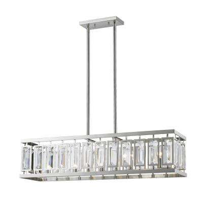 Monarch 5 Light Brushed Nickel Billiard Light