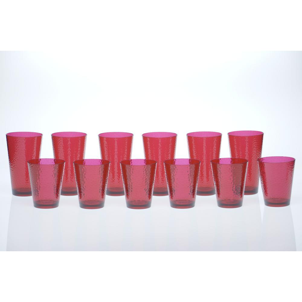 12-Piece Ruby Drinkware Set
