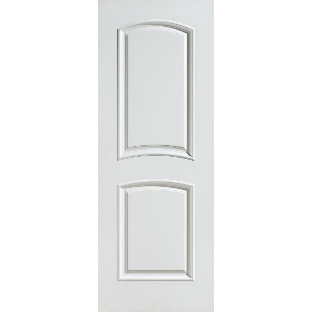 32 in. x 80 in. Palazzo Bellagio Smooth 2-Panel Arch Top  sc 1 st  The Home Depot & Masonite 32 in. x 80 in. Smooth Flush Hardboard Bored Solid Core ... pezcame.com