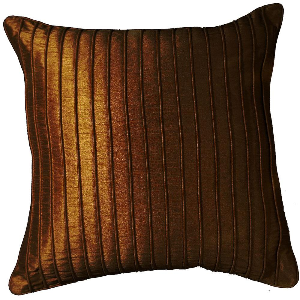 LR Resources Contemporary Marlene Chocolate 18 in. x 18 in. Square Decorative Accent Pillow (2-Pack)