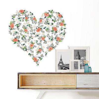 Pink From the Heart Large Wall Art Kit