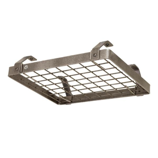 Enclume Handcrafted Low-Ceiling Square with 6 Hooks Hammered Steel DR20A HS