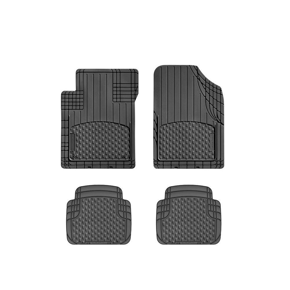 WTNB216217 WeatherTech Front//Rear Black Floor Mat Rubber