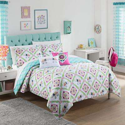 Bollywood 2-Piece Multi Polyester Twin Comforter Set