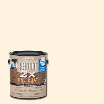 1 gal. 2X Canvas Solid Deck Stain with NeverWet