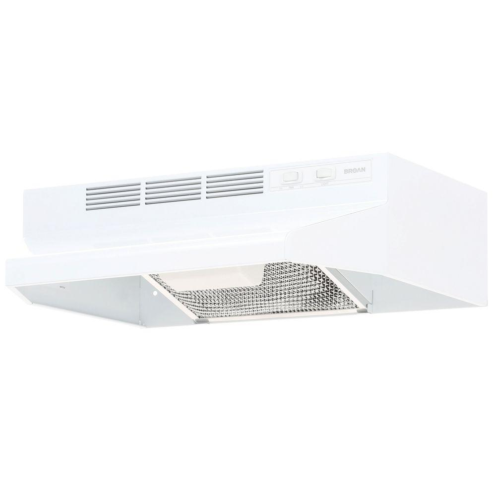 broan 41000 series 21 in non vented range hood in white 412101 the home depot. Black Bedroom Furniture Sets. Home Design Ideas