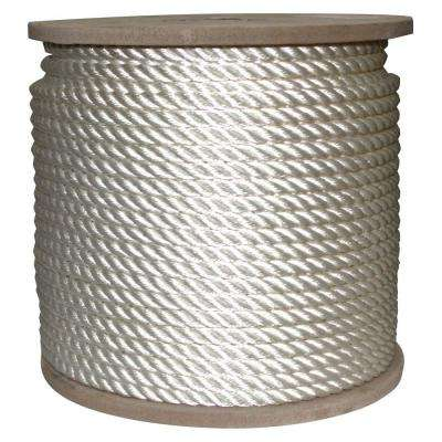1/2 in. x 400 ft. Twisted Nylon Rope White
