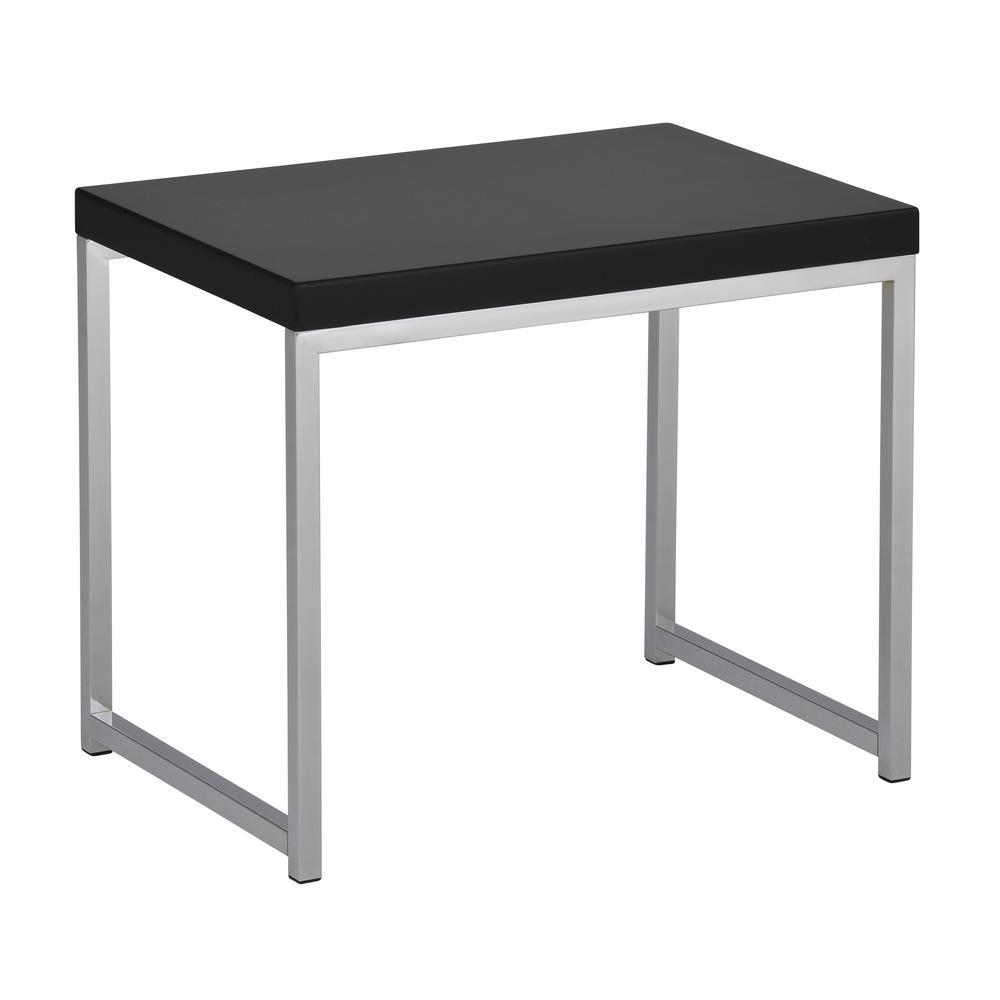 Wall Street Black/Chrome End Table