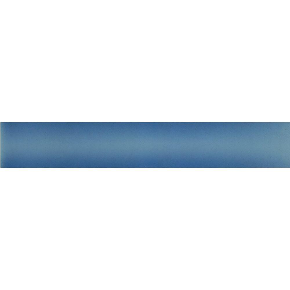 Quarter round tile trim style selections futuro white porcelain solistone handpainted cancun light blue 1 in x 6 in ceramic quarter round trim wall the home depot dailygadgetfo Gallery