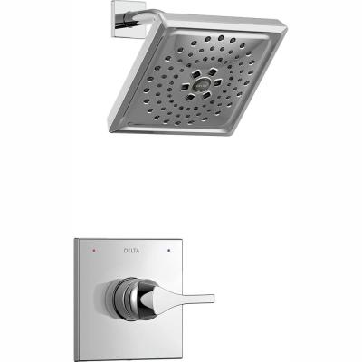 Zura 1-Handle Shower Faucet Trim Kit with H2Okinetic Spray in Chrome (Valve Not Included)