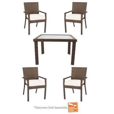 Beverly 5-Piece Patio Dining Set with Cushion Insert (Slipcovers Sold Separately)
