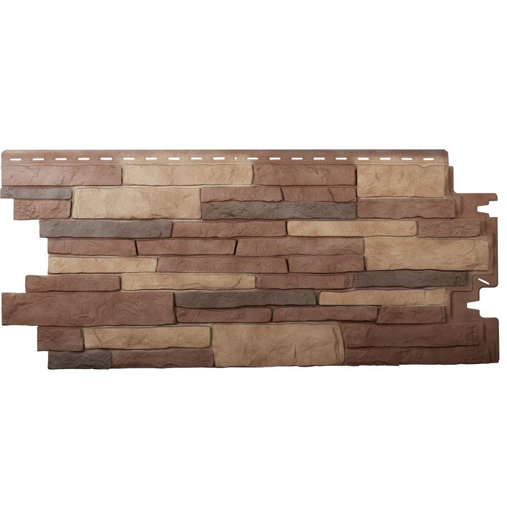 Exteria PanelStacked Stone Premium in Santa Fe 19.5 in. x 44.5 in. Polypropylene (Carton of 10)