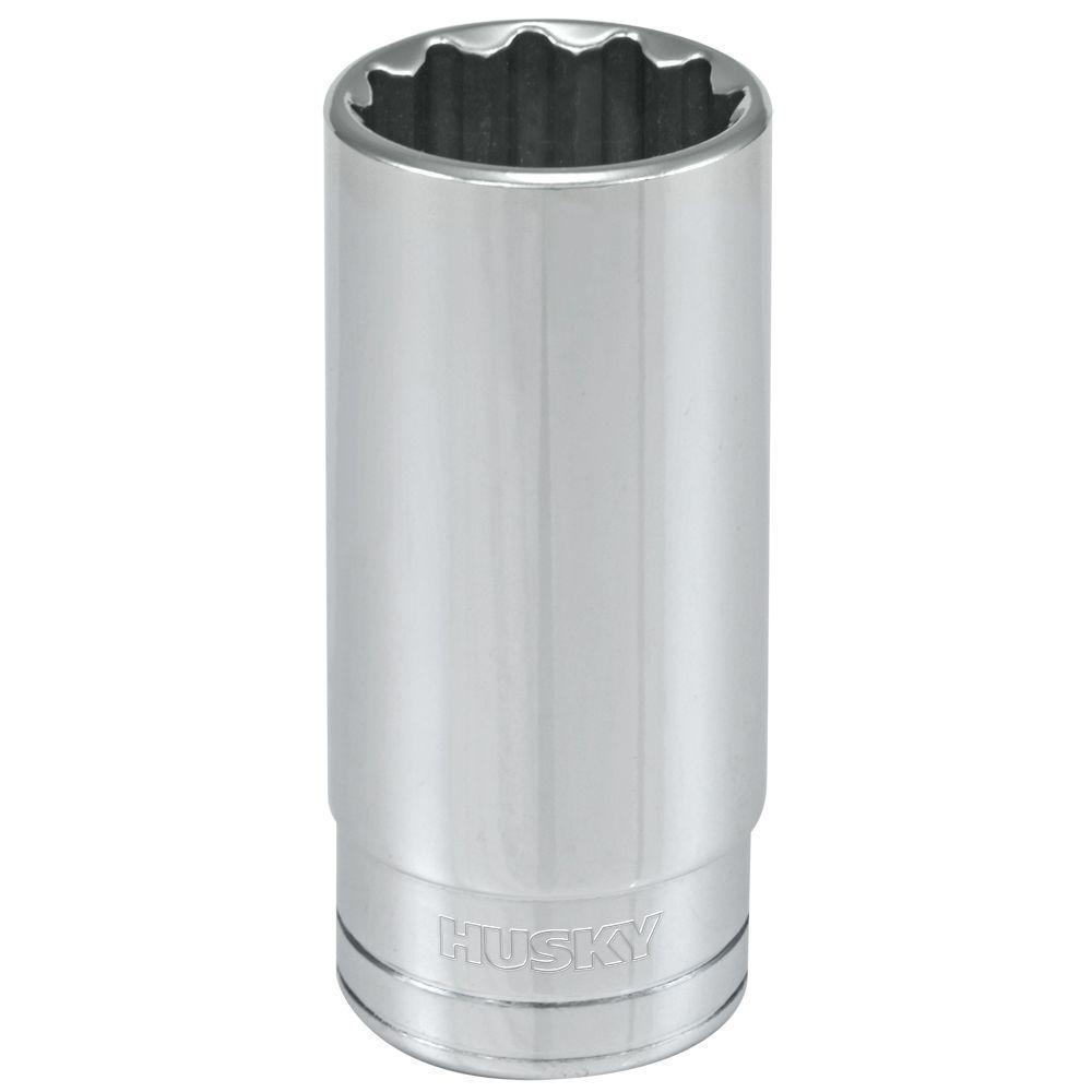 Husky 1/2 in. Drive 15/16 in. 12-Point SAE Deep Socket