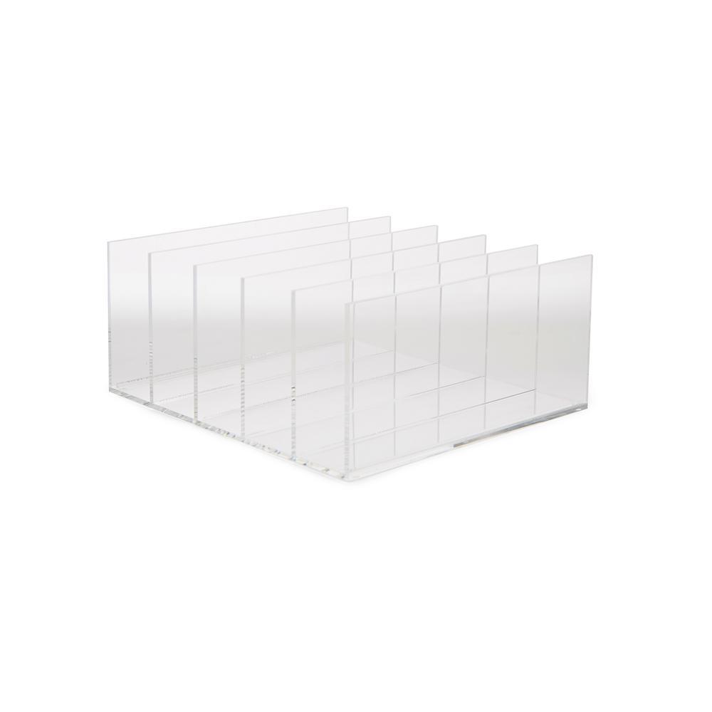 Mind Reader 45-Compartment Acrylic File Holder, High Quality, File Folder  Sorter, Desktop File Sorter Organizer, Clear