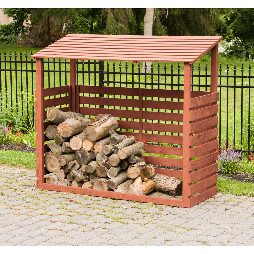 Leisure Season 5 Ft X 2 Solid Wood Firewood Storage Shed
