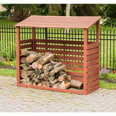5 ft. x 2 ft. x 5 ft. Solid Wood Firewood Storage Shed