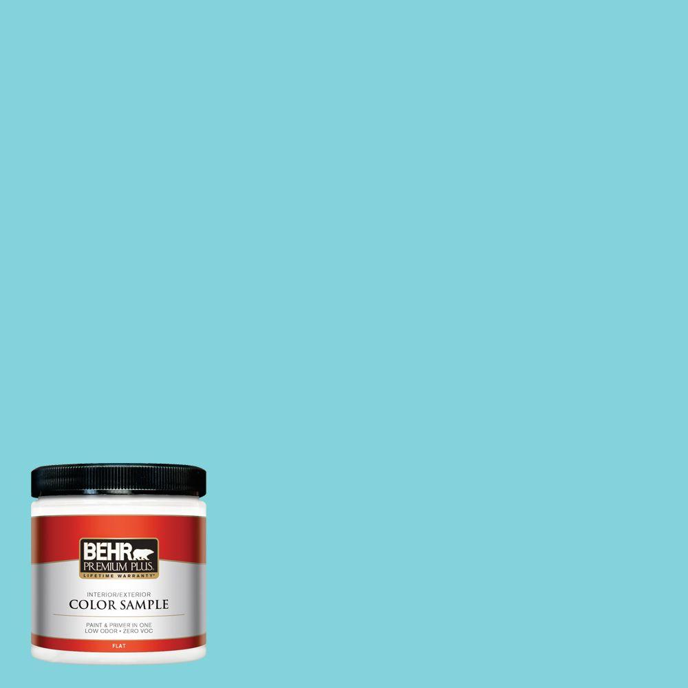 8 oz. #510B-4 Cloudless Flat Interior/Exterior Paint and Primer in One