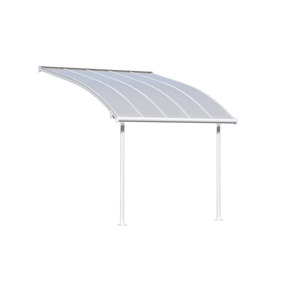 Joya 10 ft. x 10 ft. White Patio Cover Awning