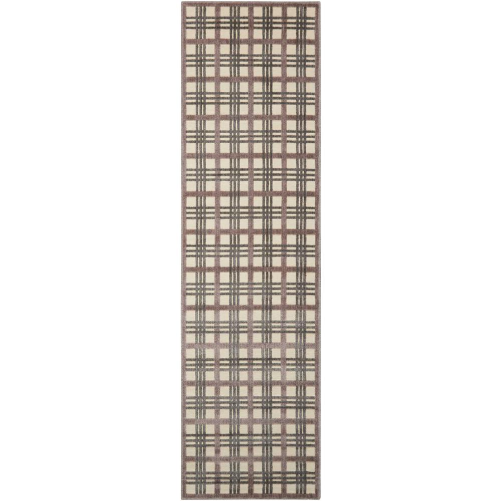 Nourison Graphic Illusions Ivory Taupe 2 Ft 3 In X 8 Ft
