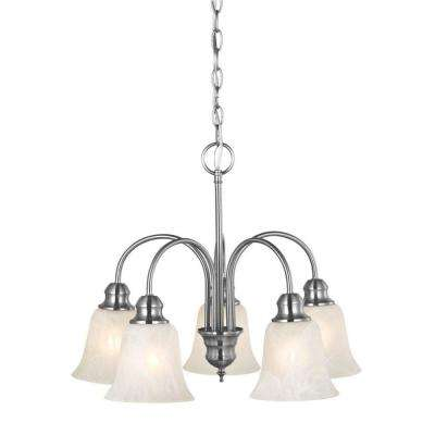 Ridgeway 5-Light Satin Nickel Chandelier