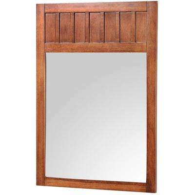 Knoxville 24 in. W x 34 in. H Framed Mirror in Nutmeg