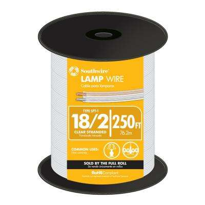 250 ft. 18/2 Clear Stranded CU SPT-1 Lamp Wire