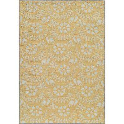 Havana Yellow 5 ft. x 8 ft. Indoor Area Rug