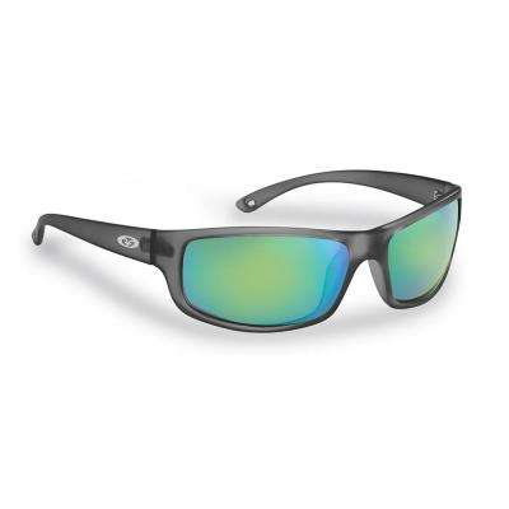 Slack Tide Polarized Sunglasses Granite Frame with Amber Green Mirror Lens