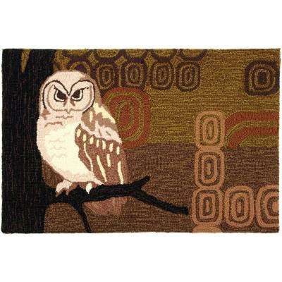 Retro Owl Multi-Colored 1 ft. 10 in. x 2 ft. 10 in. Accent Rug