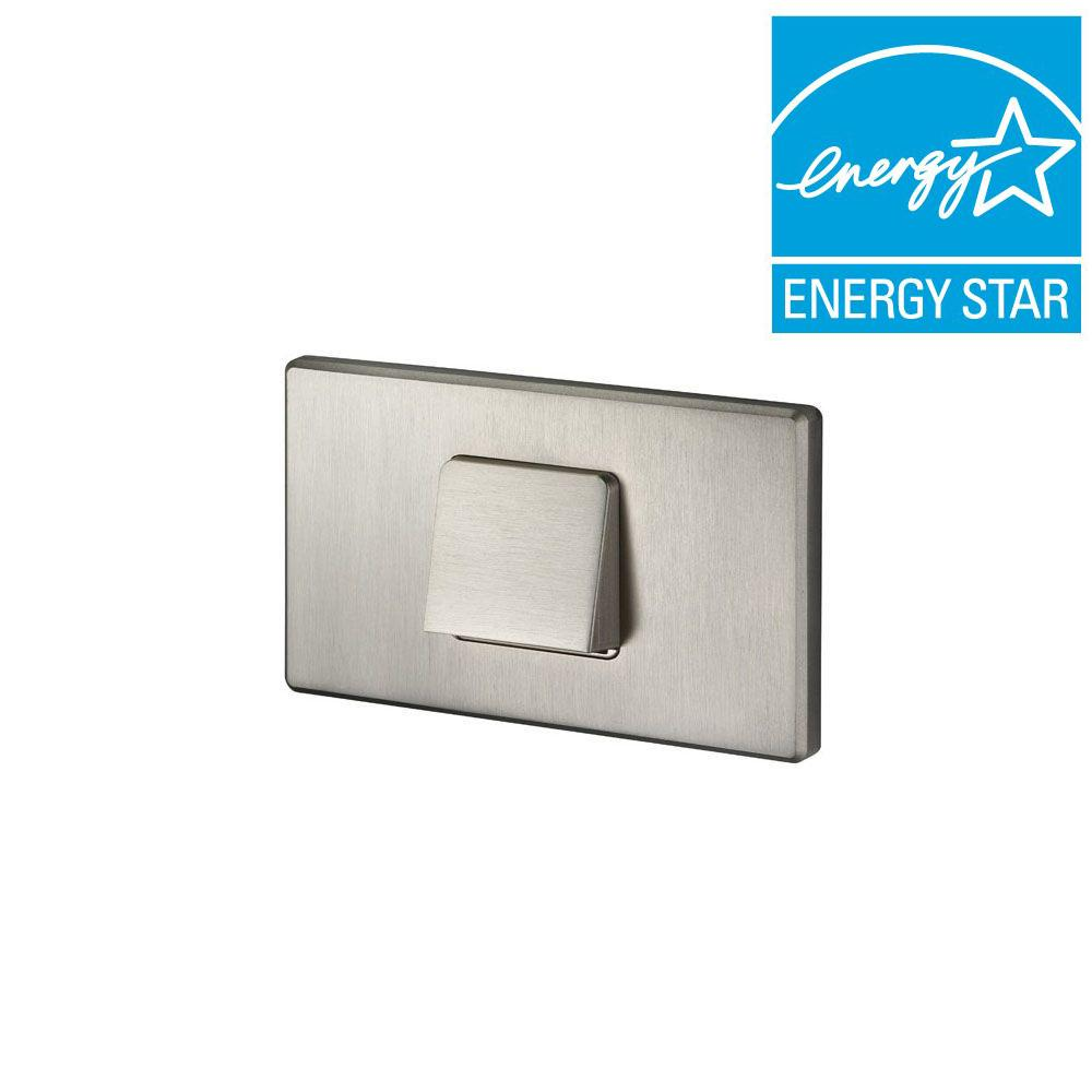 Juno 1.875 in. Satin Nickel Recessed LED Hood Mini Step Light with 3000K