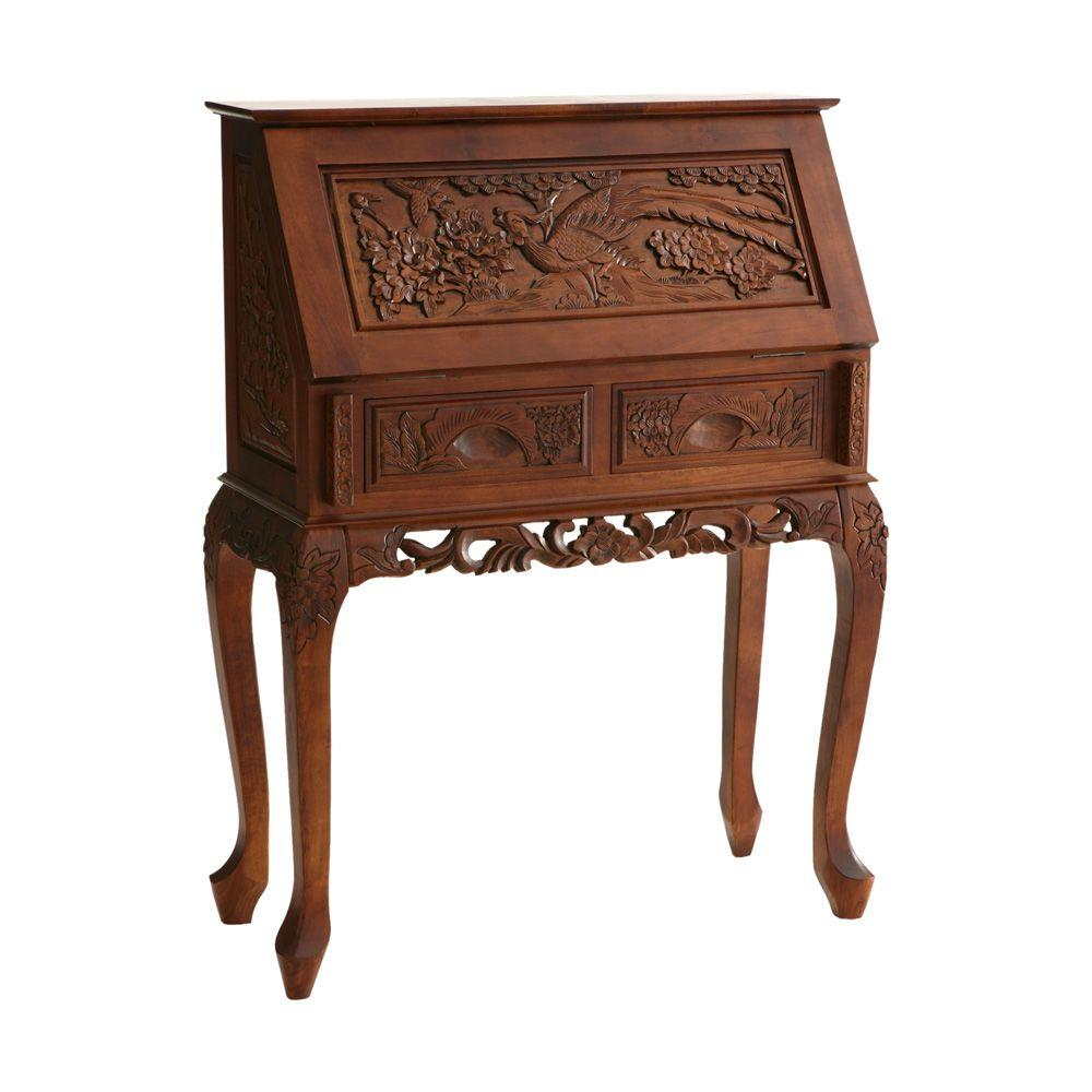 Home Decorators Collection Cherry Drop-Front Desk-DISCONTINUED