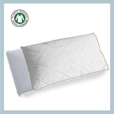 Organic Cotton Diamond Quilted Pillow Protector