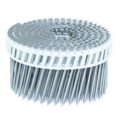 2.5 in. x 0.092 in. 15-Degree Ring Stainless Plastic Sheet Coil Siding Nail 3,200 per Box