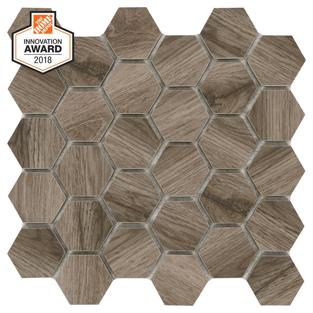 Lifeproof Sierra Wood Hexagon 12 In X