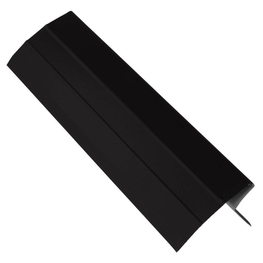 4-1/2 in. x 10 ft. Black Aluminum Eave Drip Edge Flashing
