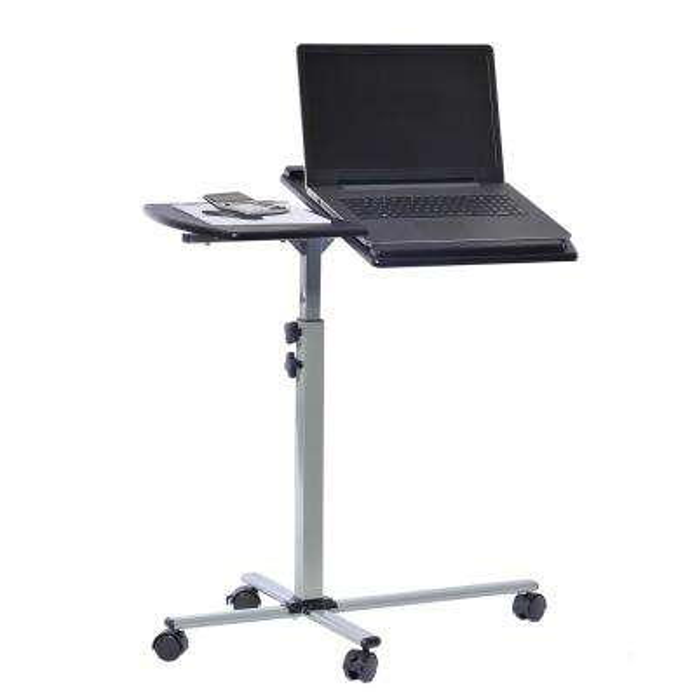 Graphite Rolling Adjustable Laptop Cart